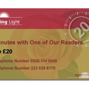 Healing Light Online psychics Voucher for 20 minutes reading