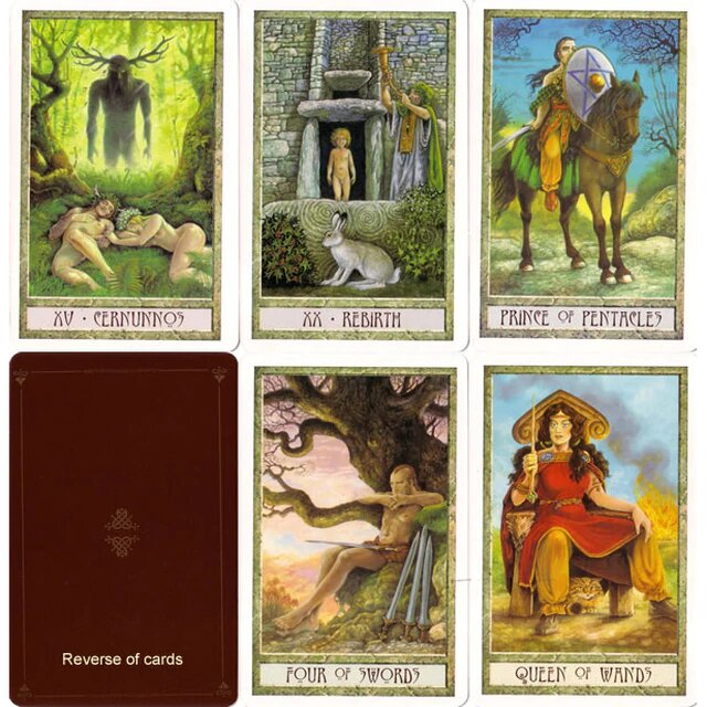 Healing Light Online Psychic Readings and Merchandise The Druid Craft Tarot Set by Philip and Stephanie Carr- Gom