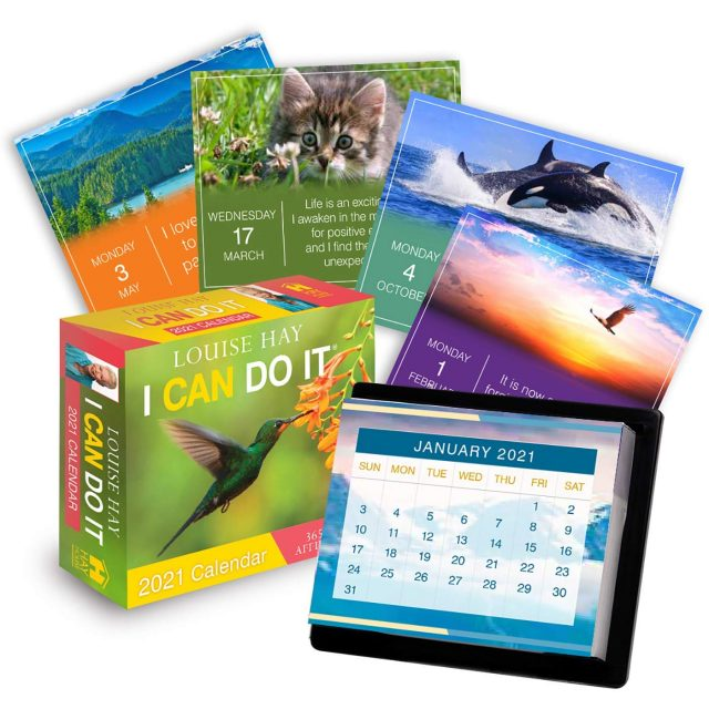 Healing Light Online Psychic Readings and Merchandise I can Do It 2021 Calendar by Louise Hay