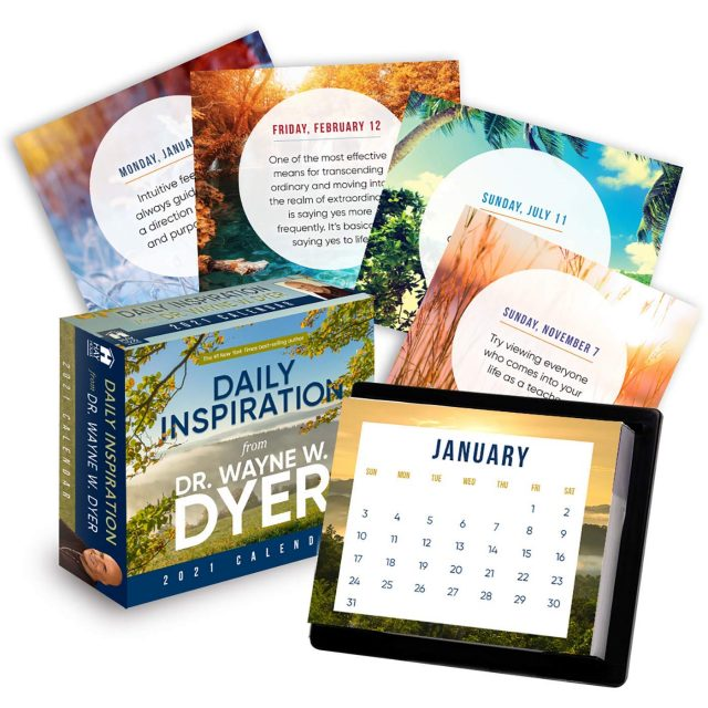 Healing Light Online Psychic Readings and Merchandise Daily Inspiration 2021 Calendar by Dr Wayne W Dyer