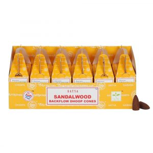 Healing Light Online Psychic Readings and Merchandise Satya Sandalwood Backflow dhoop incense cones