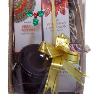 ealing Light Online Psychic Readings and Merchandise Christmas Oils in a jute box