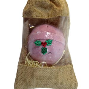 Healing Light Online Psychic Readings and Merchandise Single bath bomb in jute bag
