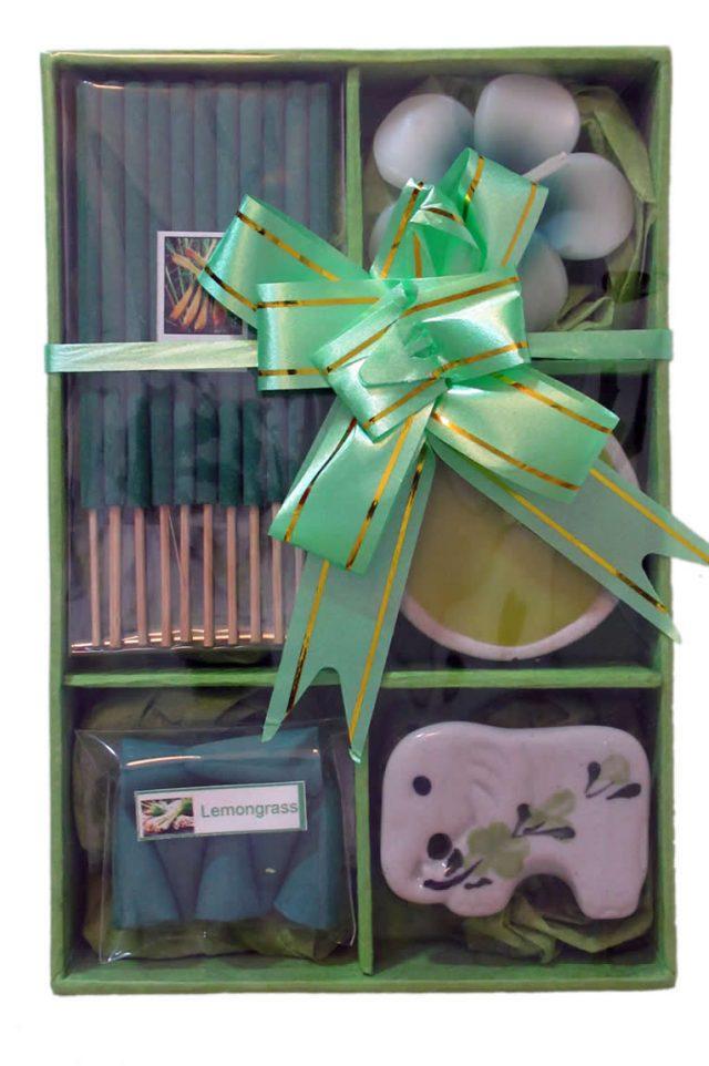 Healing Light Online Psychic Readings and Merchandise Green Lemongrass incense gift set