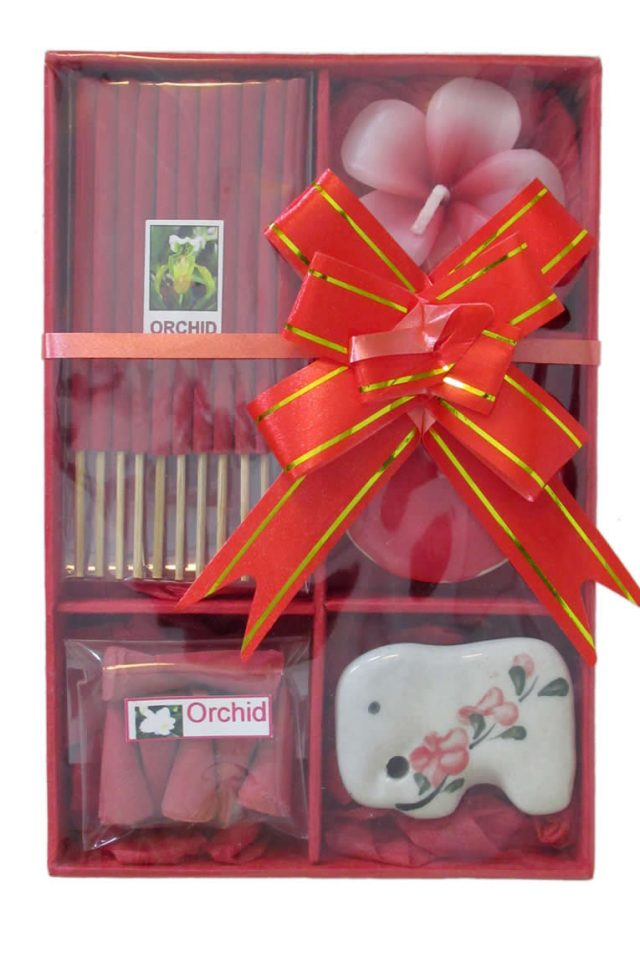 Healing Light Online Psychic Readings and Merchandise red Orchid incense gift set