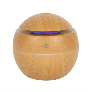 Healing Light Online Psychic Readings and Merchandise Small Round Wood Aroma diffuser
