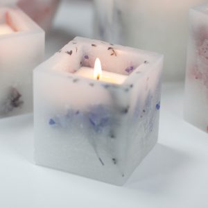 Healing Light Online Psychic Readings and Merchandise Soy Small quare Lavender Fields Candle