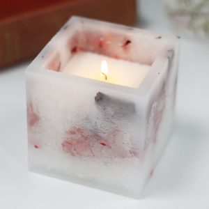 Healing Light Online Psychic Readings and Merchandise Soy Small quare Rose Garden Candle