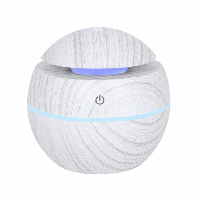Healing Light Online Psychic Readings and Merchandise Small Round Grey Grain Aroma diffuser