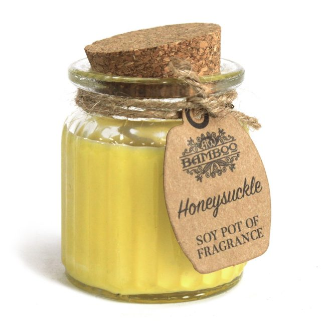 Healing Light Online Psychic Readings and Merchandise Soy Pot candle Honeysuckle