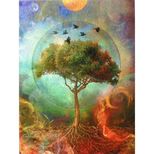 Healing Light Online Psychic Readings and Merchandise Tree of Life Greeting Card